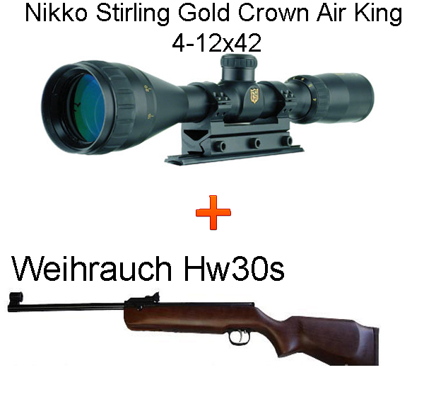 Hw30s légpuska + Nikko Stirling Gold Crown Air King 4-12x42