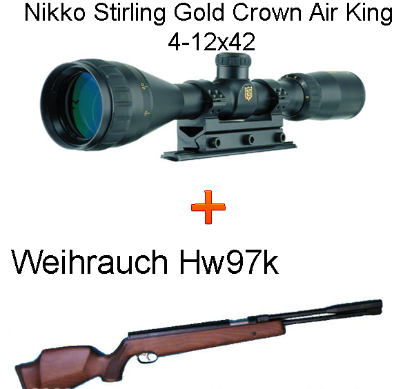 Weihrauch Hw97k légpuska + Nikko Stirling Gold Crown 4-12x42